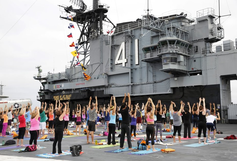 yoga on the midway