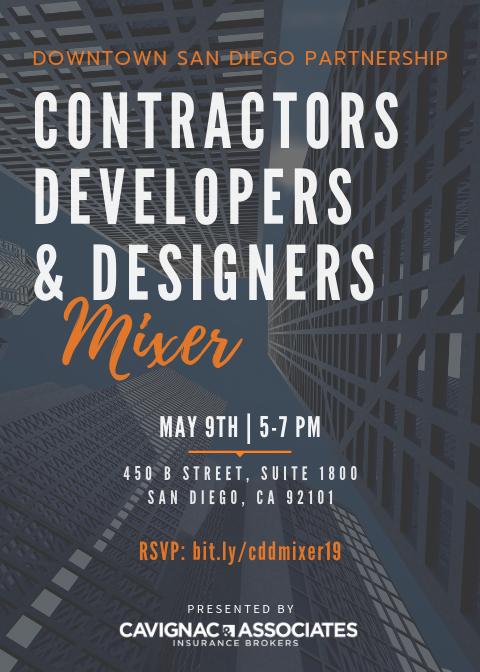 Contractors, Developers & Designers Mixer   Downtown San
